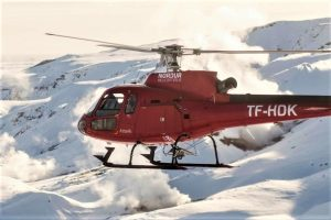 Helicóptero en Islandia