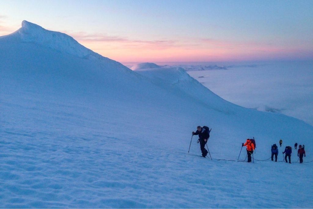 Trek na ledovec Snaefellsjokull