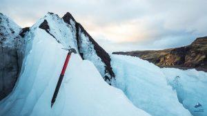 Ledový splav Solheimajokull