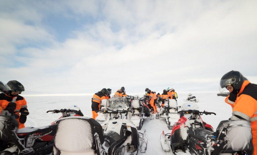 Exkurze na skůtrech na Islandu