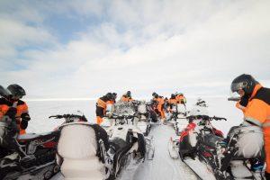 Skútr ledovec Island