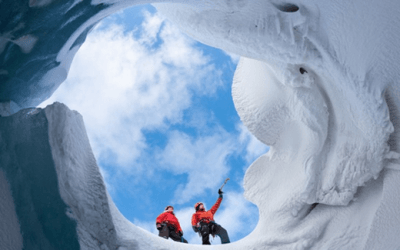 Ledovec Mýrdalsjökull s mačkami