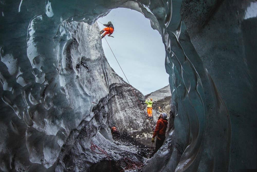 Ledovcový splaz Sólheimajökull ledovce Mýrdalsjökull