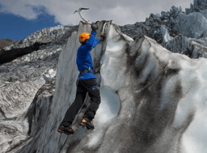 lezeni a šplhání na ledovci
