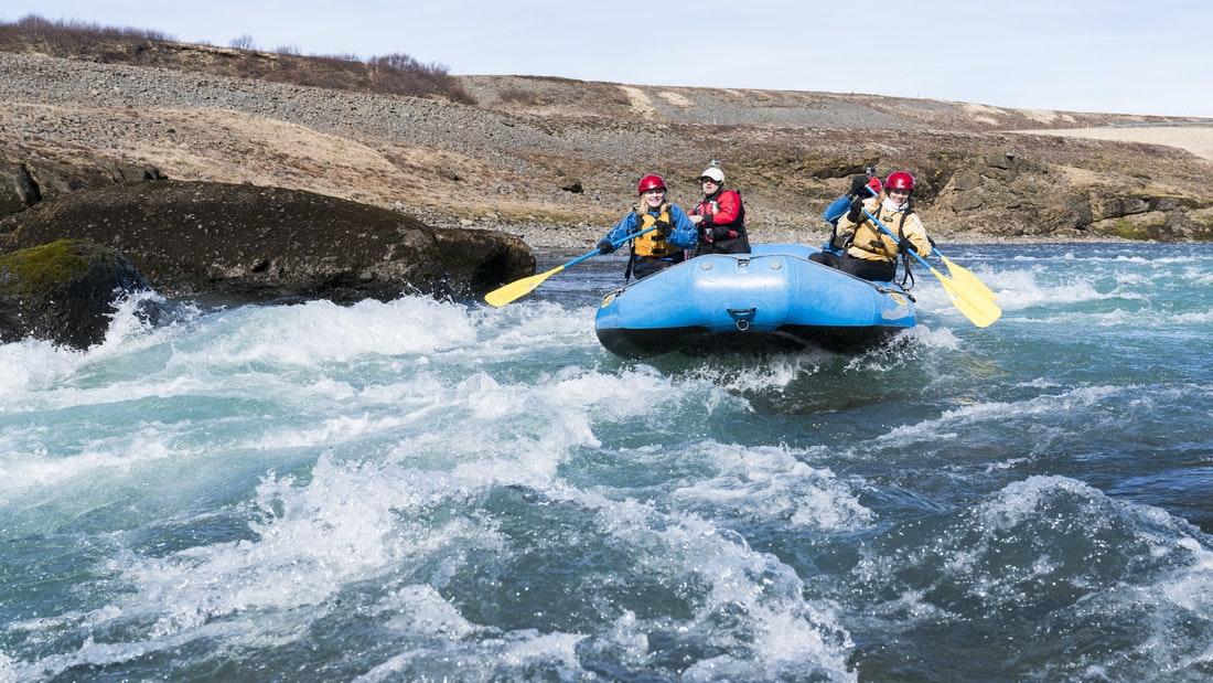 Exkurze s raftem na Islandu
