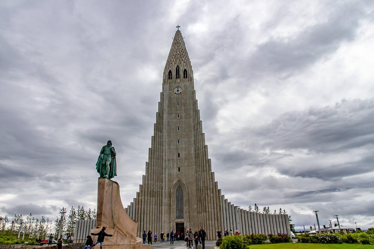 Kostel Hallgrimskirkja v hlavním městě Islandu