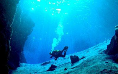 Potápění na Islandu