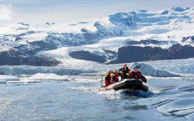 Ledovec a laguna