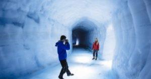 Tunel do ledovce Langjokull