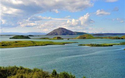 Jezero Mývatn z Reykjavíku