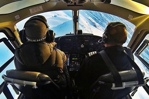 Exkurze s helikoptérou z Reykjavíku nad ledovcem