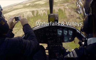 Thingvellir a Glymur z helikoptéry