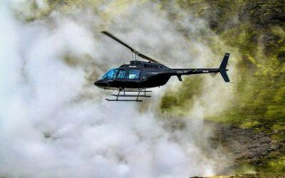 Helikoptérou do termální oblasti