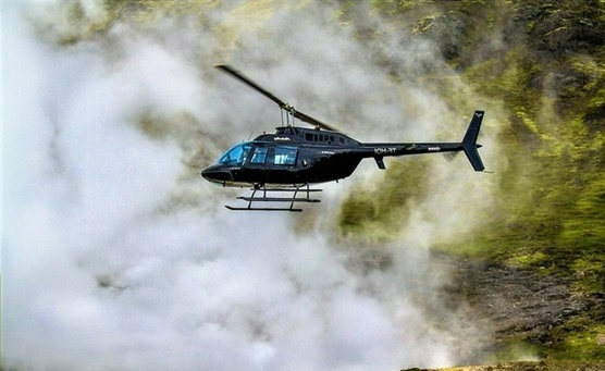 Helikoptéra na Islandu