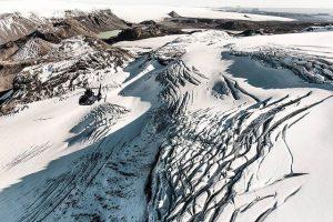Exkurze helikoptérou nad ledovcem