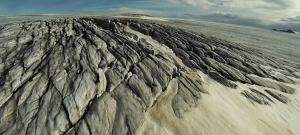 ledovec z helikoptéry