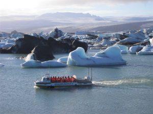 laguna Jokulsárlón na Islandu