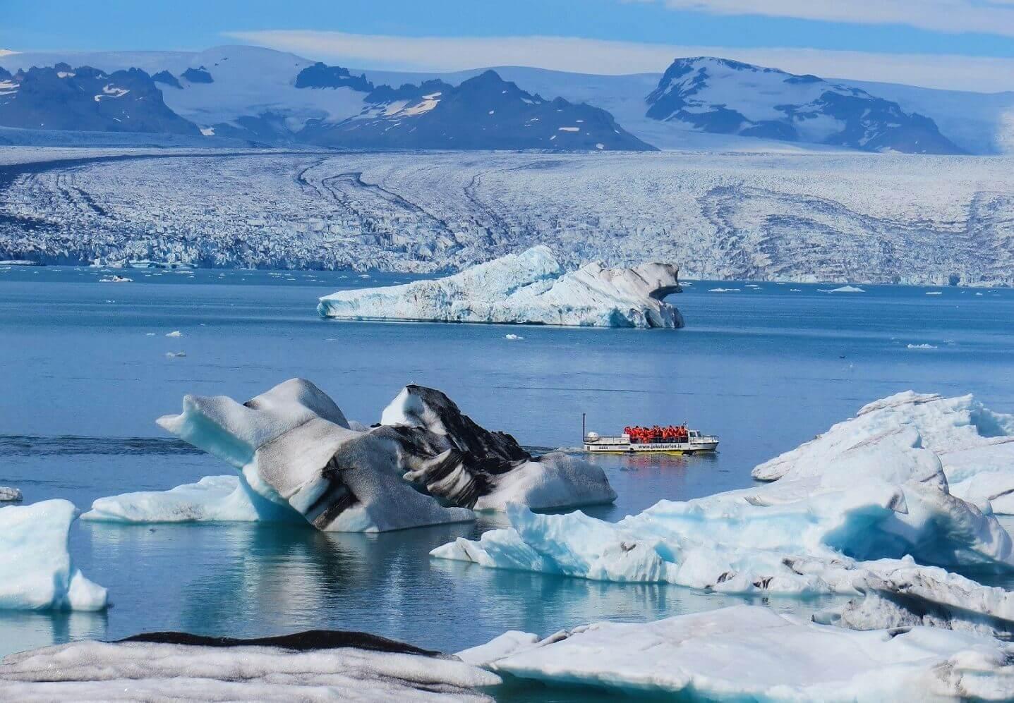 Exkurze v ledovcové laguně Jokulsarlon