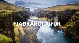 Kaňon Fjaðrárgljúfur Island