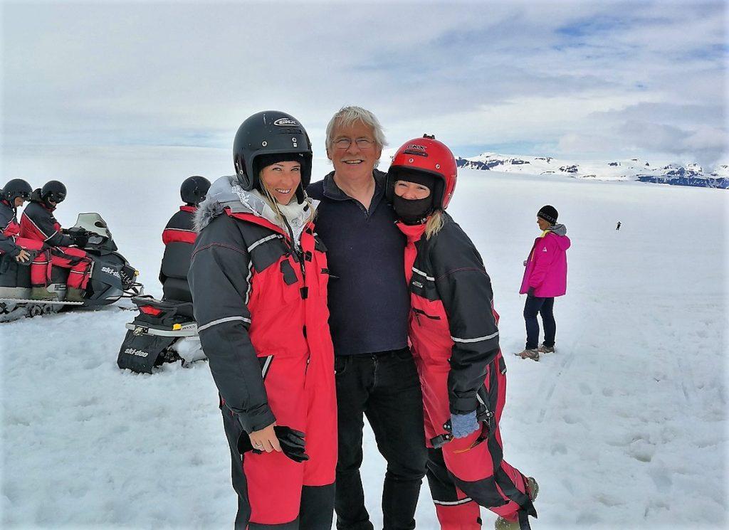 sněžné skútry exkurze Island vatnajokull