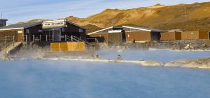 Termální laguna Mývatn na Islandu