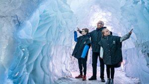 Ledovcová jeskyně v muzeu Perlan
