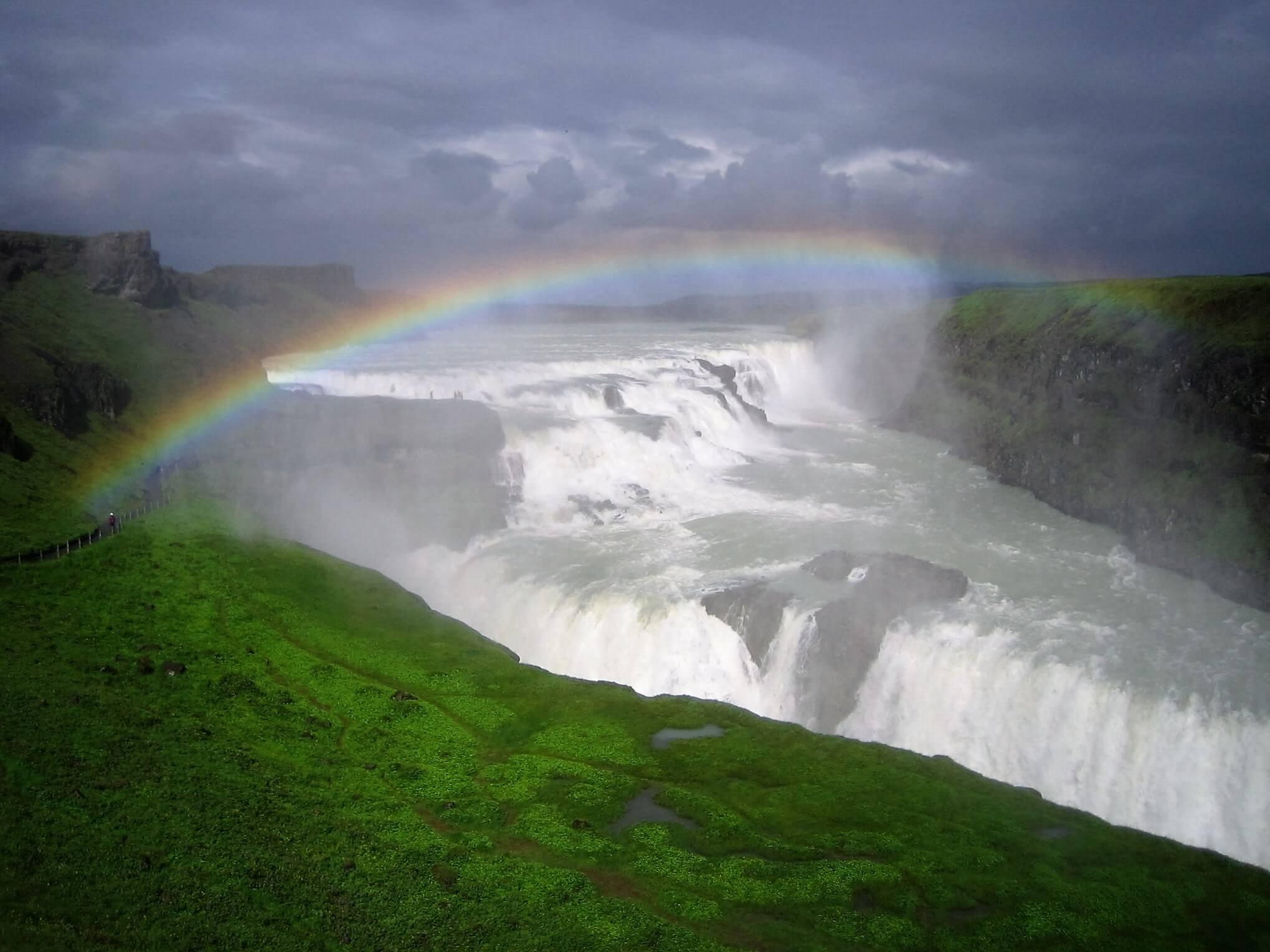 Vodopád Gullfoss na Zlatém okruhu