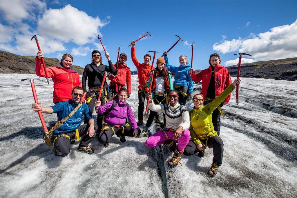 Exkurze na ledovec Solheimajokull