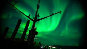Pozorování polárních září z lodi