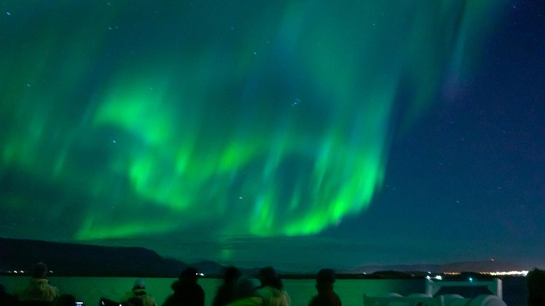 Exkurze na polární záře na lodi z Reykjavíku