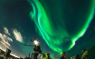 Polární záře z lodi
