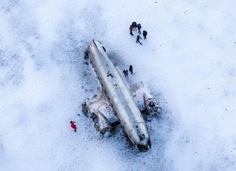 Vrak letadla na pláži Solheimasandur