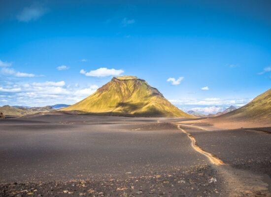 Sopečná krajina na Islandu