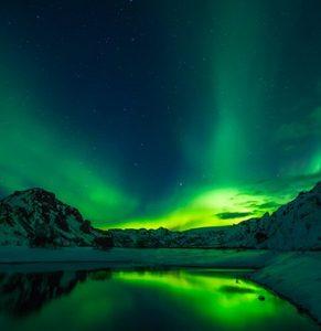 Polární záře Island