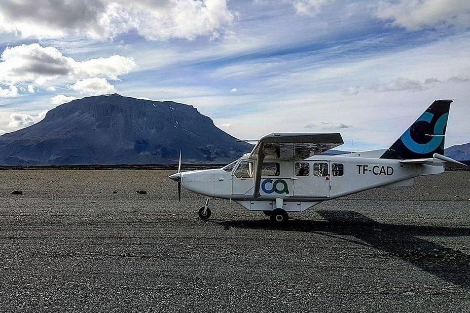 Vyhlídkový let na Islandu