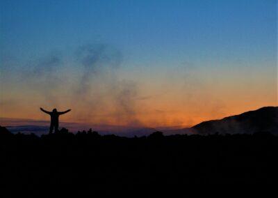 Sopka Krafla na Islandu