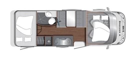 plánek karavanu