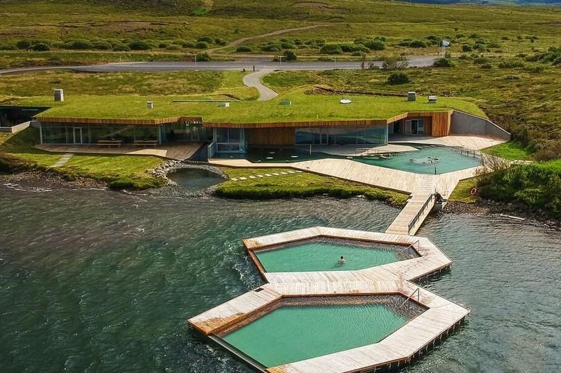 termální lázně a prameny Vök na Islandu