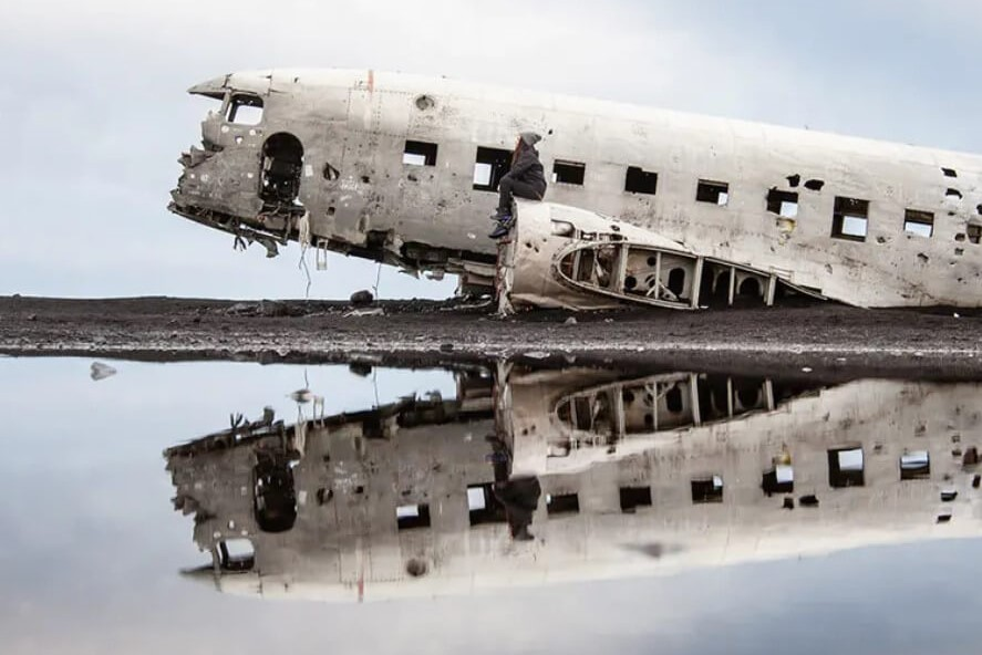 vrak letadla DC3 na Islandu