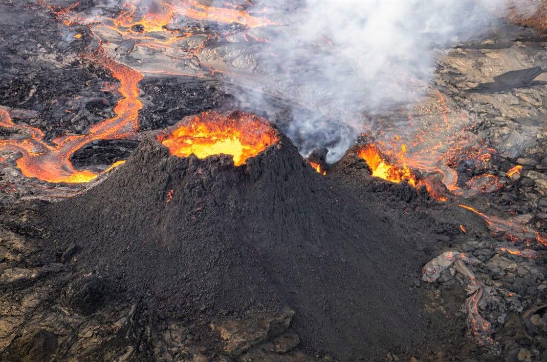 výbuch sopky na Islandu
