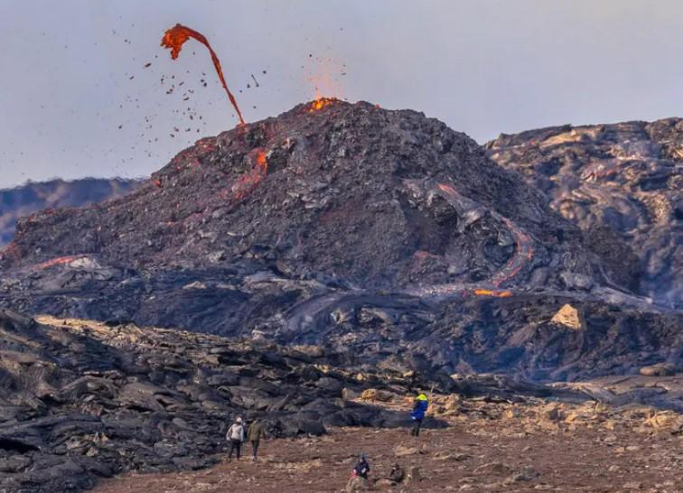 exkurze sopečná erupce na Islandu